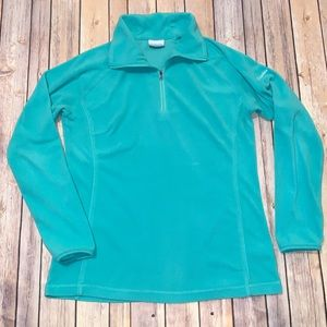 Columbia Women's zip up fleece green sweater Sz L